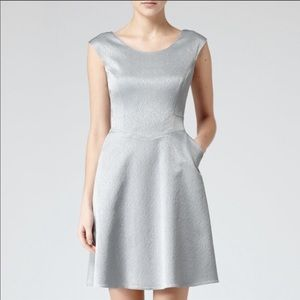 REISS Cole fit and flare Dress with pockets